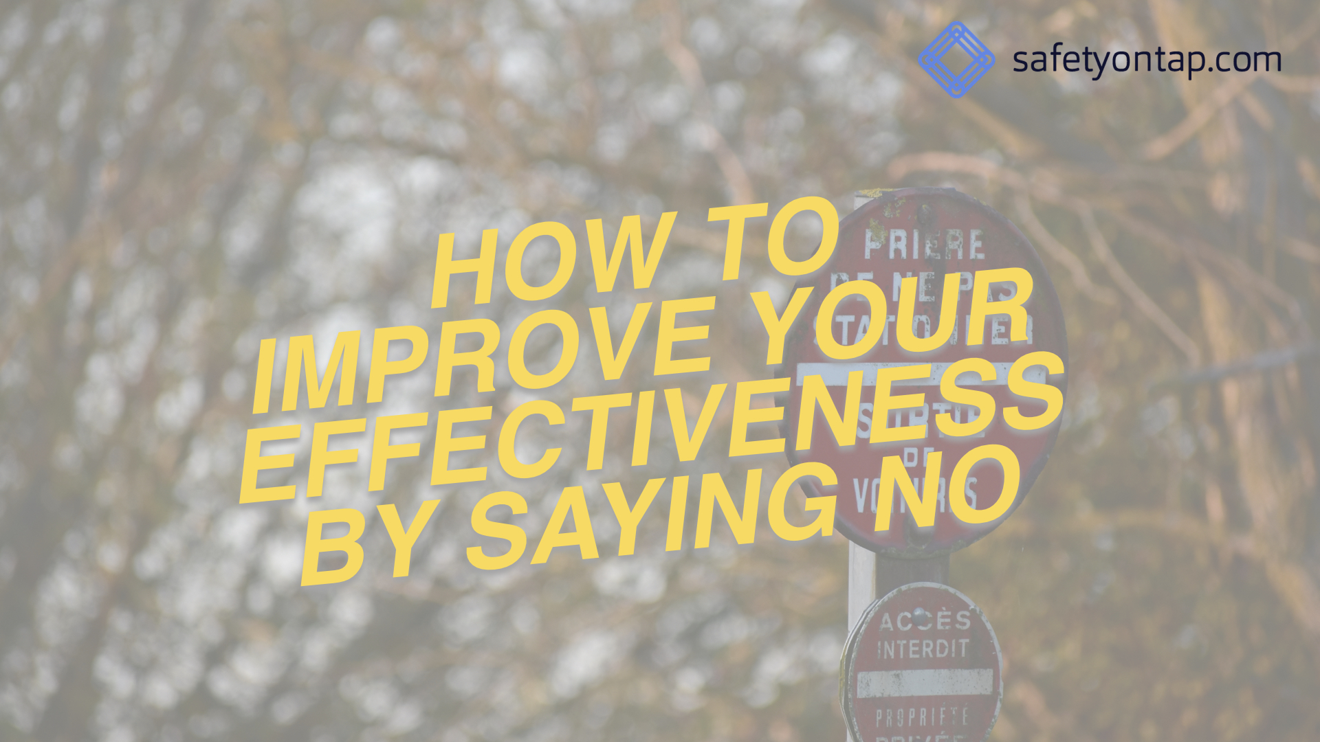Ep061: How to improve your personal effectiveness by saying NO